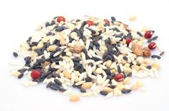 raw mixed grains - stock photo