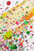 Colorful paint splatter Stock Photos