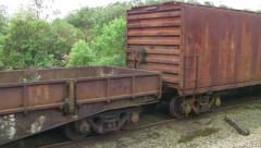 Abandoned Train Cars Stock Footage