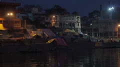 Varanasi night Stock Footage