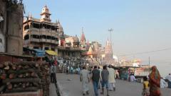 Varanasi India Stock Footage