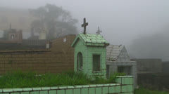 A Graveyard in the Paranapiacaba, Brazil Stock Footage