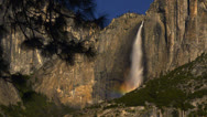 Stock Video Footage of Yosemite Moonbow LM09 Timelapse Lunar Rainbow