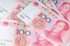 Chinese money currency yuan Stock Photos