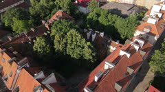 Aerial View of The New Town and Panorama of Warsaw by HeliDog_Aerials Stock Footage