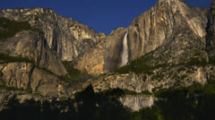 Stock Video Footage of Yosemite Moonbow LM15 Timelapse Lunar Rainbow Zoom Out
