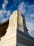 White stupa in traditional thai style Stock Photos