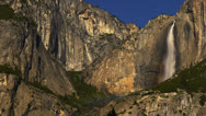 Stock Video Footage of Yosemite Moonbow LM16 Timelapse Lunar Rainbow