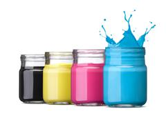 cmyk ink - stock photo