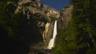 Stock Video Footage of Yosemite Moonbow LM20 Timelapse Lunar Rainbow
