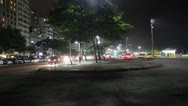 Stock Video Footage of COPACABANA BEACH NIGHT