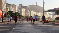 Stock Video Footage of COPACABANA BEACH MORNING