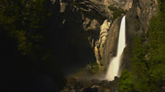 Stock Video Footage of Yosemite Moonbow LM22 Timelapse Lunar Rainbow