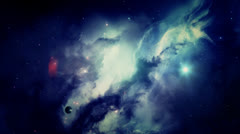 Blue Galaxy in Outer Space Stock Footage