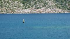 Navigation Buoy in Kekova Stock Footage