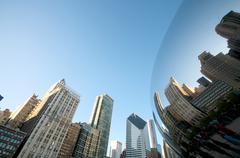 Magic bean at millennium park in chicago Stock Photos