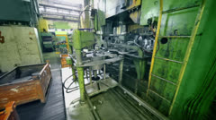 Machine works at Avtovaz factory in Togliatti Stock Footage