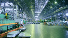 Stock Video Footage of Rolls of material for production car components at Avtovaz