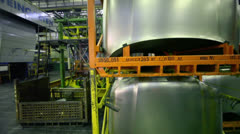 Stacks of car components in warehouse at factory VAZ Stock Footage