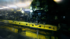 Machine runs at Avtovaz factory in Togliatti, Russia Stock Footage