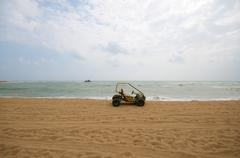 Atv on the beach Stock Photos