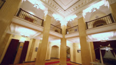 Lunchroom in Palace on Yauza, (around motion) Stock Footage