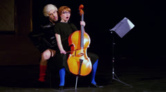 Yaremenko and Vorozhtsova play at Musical Witches of Eastwick Stock Footage