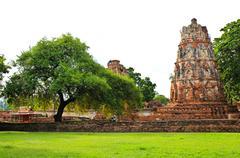 Stupa at wat mahathat, ayutthaya, thailand Stock Photos