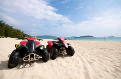 Beach atv Stock Photos