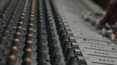 mixing sound tracking right - stock footage