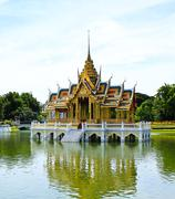 bang pa-in palace in bangkok, thailand - stock photo