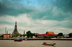 Wat Arun Temple in Bangkok - Thailand - stock photo