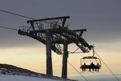 ski-lift - stock photo
