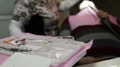 Dentist doing dental work Stock Footage