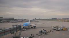 KLM Evening Flight Stock Footage