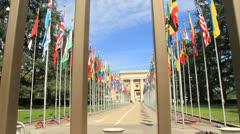 UNO Geneva Stock Footage