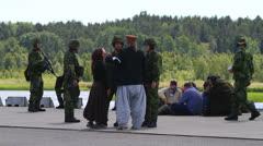 Military hostage training Stock Footage