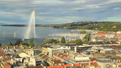 Geneva panorama - stock footage
