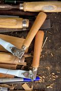Tools woodcraft background Stock Photos