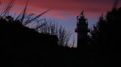 Lighthouse in Kiel / Germany Stock Footage