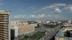 Novosibirsk. Shooting with the top point Stock Footage