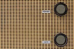 Vintage radio knob Stock Photos
