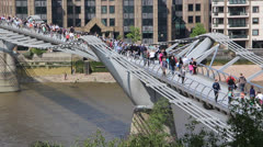 The millenium Bridge Stock Footage