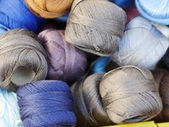 thread twine wool - stock photo