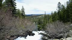 Mammoth Lakes LM07 Twin Falls Sierra Nevada Mts California - stock footage