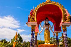 Lord Shiva statue in Buddhist temple, Koh Samui - stock photo
