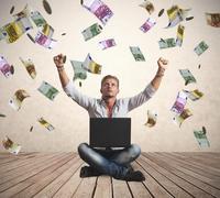 Menestys liikemies rahaa sade Kuvituskuvat