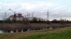 Unfinished units 5 and 6 at the Chernobyl NPP Stock Footage