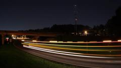 Time Lapse of Rural Night Traffic - stock footage