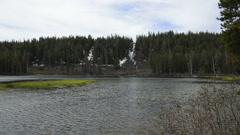 Mammoth Lakes LM16 Twin Falls Twin Lakes Sierra Nevada Mts California - stock footage